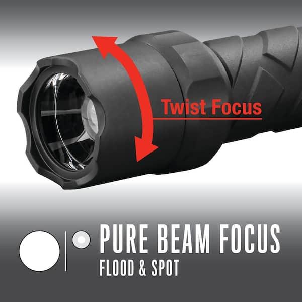 piles incl. Coast DEL Lampe de poche Polysteel 600 Twist Focus