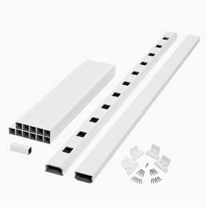 ArmorGuard Regency 72 in. White Composite Stair Rail Kit
