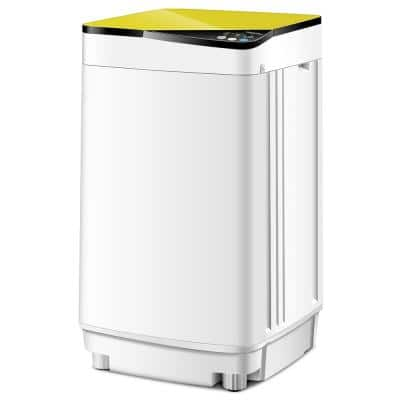 0.8 cu. ft. Traditional Full-Automatic Portable Top Load Washer in Yellow with UV Light-UL Certified