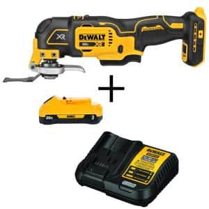 20-Volt MAX XR Cordless Brushless 3-Speed Oscillating Multi-Tool with (1) 20-Volt 3.0Ah Battery & Charger
