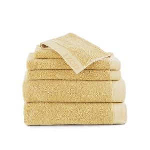 Classic 6-Piece Lemon Solid Bath Towel Set