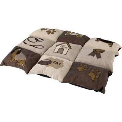 Small Brown Patchwork Quilted Blanket