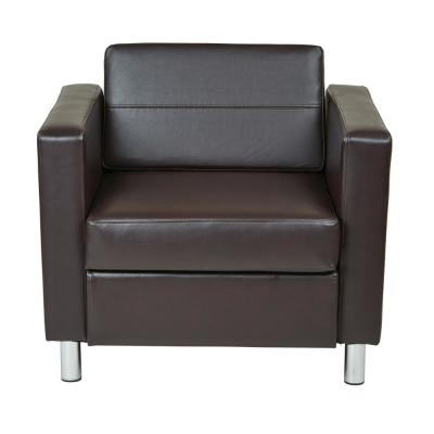 Pacific Espresso Faux Leather Arm Chair