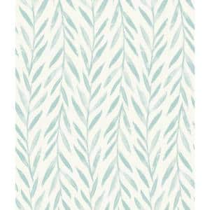 Willow Blue Paper Peel & Stick Repositionable Wallpaper Roll (Covers 34 Sq. Ft.)