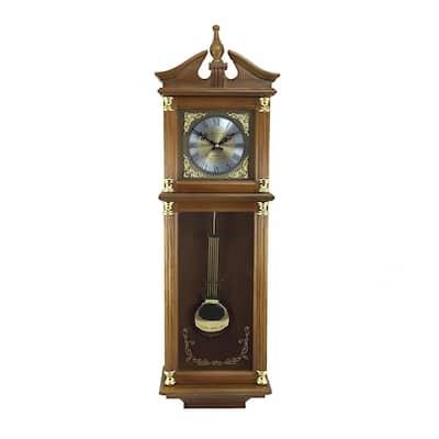 Antique Harvest Oak Brown Pendulum Wall Clock