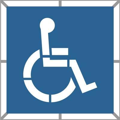 39 in. Two Part Handicap Stencil