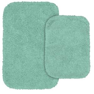 Serendipity Sea Foam 2-Piece Washable Bathroom Rug Set