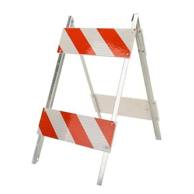 8/8 in. Plywood/Galvanized High-Intensity Sheeting Type II Folding Barricade