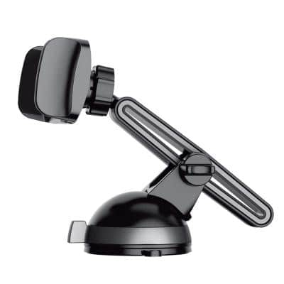 Windshield and Dash Mount with Adjustable Arm Black/Space Grey