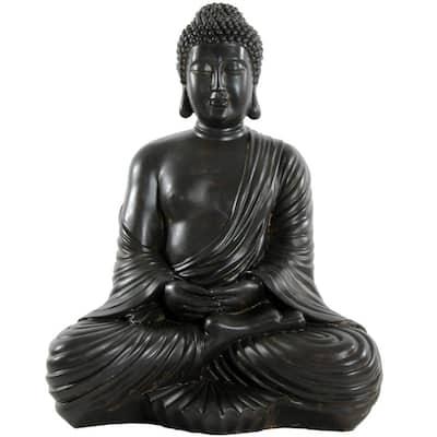 17 in. Japanese Sitting Buddha Decorative Statue