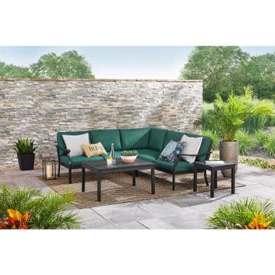 Midnight Medallion Welted Outdoor Throw Pillow