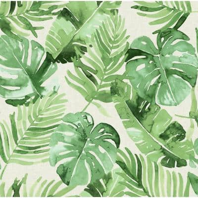 Green Vinyl Peel & Stick Washable Wallpaper Roll (Covers 30.75 Sq. Ft.)