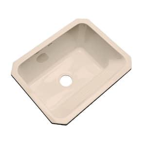 Kensington Undermount Acrylic 25 in. Single Bowl Utility Sink in Peach Bisque