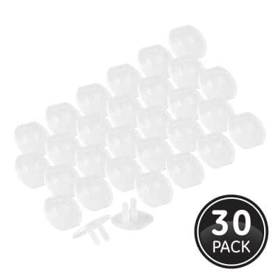 Plastic Outlet Safety Covers, Clear (30-Pack)