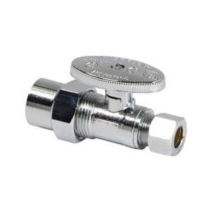 1/2 in. CPVC Inlet x 3/8 in. O.D. Compression Outlet Quarter Turn Straight Stop Valve