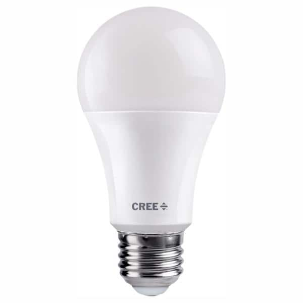Cree 75w Equivalent Soft White 2700k A19 Dimmable Exceptional Light Quality Led Light Bulb Ta19 11027mdfh25 12de26 1 11 The Home Depot