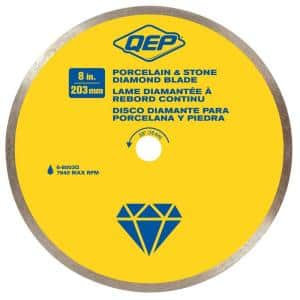 8 in. Premium Diamond Blade for Wet Cutting Porcelain and Ceramic Tile