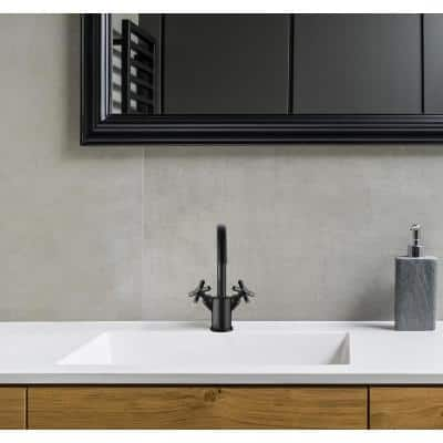 Prima Colori Single Hole 2-Handle Bathroom Faucet in Matte Black