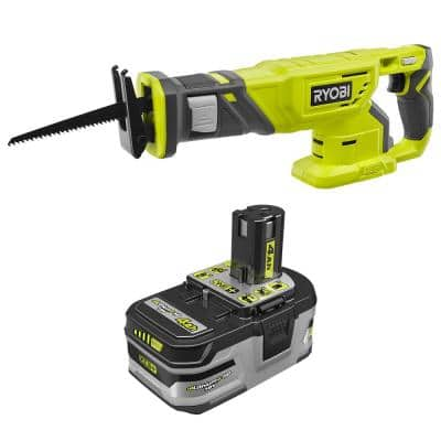 ONE+ 18V Cordless Reciprocating Saw with 4.0 Ah Lithium-Ion LITHIUM+ HP High Capacity Battery