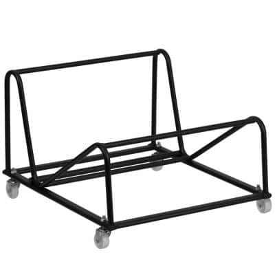 200 lbs. Capacity Stack Chair Dolly with Wheels - Black (Set of 6)