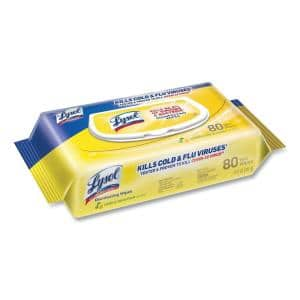 Disinfecting Wipes Flatpacks, 6.69 in. x 7 in., Lemon and Lime Blossom, 80/Pack, 6 Packs/Carton