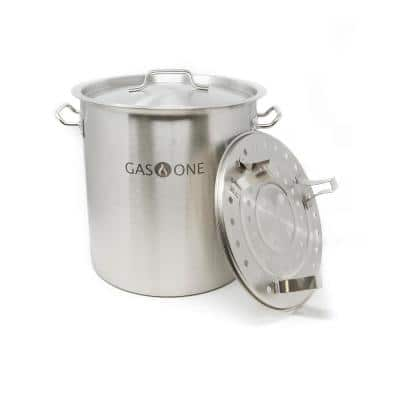 32 qt. Stainless Steel Stock Pot with Lid