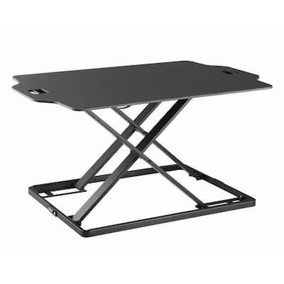 Quick Release Standing Desk Riser in Black