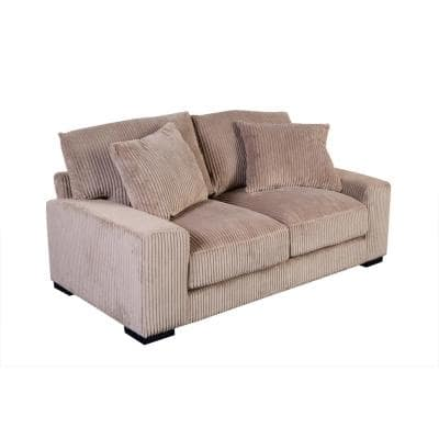 Big Chill 74 in. Tan Microfiber 2 Seater Lawson Loveseats with Removable Cushions