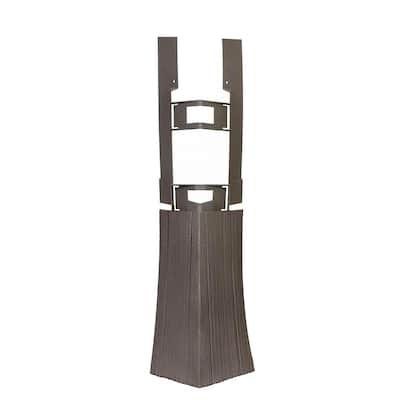 Shake HS - 4.75 in. x 19.25 in. Hand-Split Shake in Cedar Blend - Corner (3.85 lin. ft. per Box) Trim Plastic Siding
