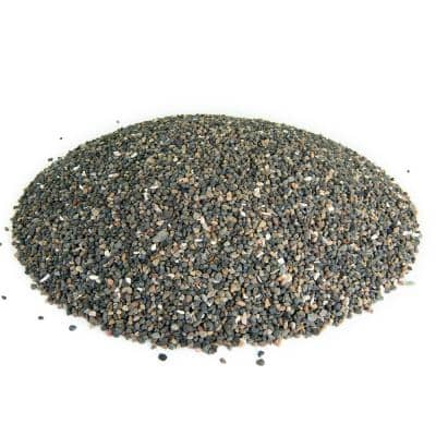 0.25 cu. ft. 1/8 in. Black Criva Mexican Beach Pebble Smooth Round Rock for Gardens, Landscapes and Ponds
