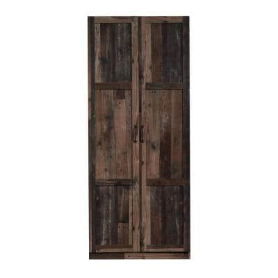 Reclaimed Pine Finish 16 in. Deep Accent Storage Cabinet