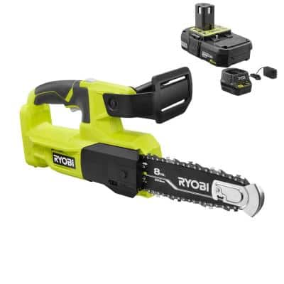 ONE+ 18V 8 in. Cordless Battery Pruning Chainsaw with 2.0 Ah Battery and Charger