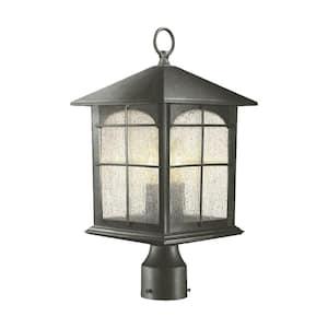 Brimfield 3-Light Outdoor Aged Iron Post Light