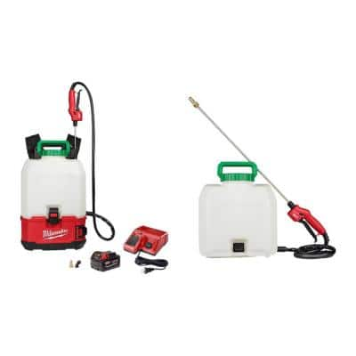 M18 18-Volt 4 Gal. Lithium-Ion Cordless Switch Tank Backpack Pesticide Sprayer Kit with Battery, Charger and (2)Tanks