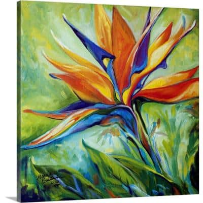 """""""Blessed Day Bird Of Paradise"""" by Marcia Baldwin Canvas Wall Art"""