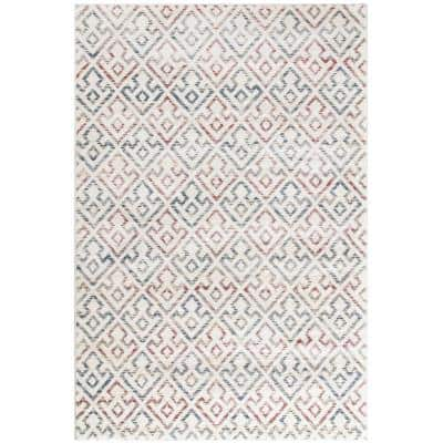 Amy White 5 ft. x 8 ft. Indoor Area Rug