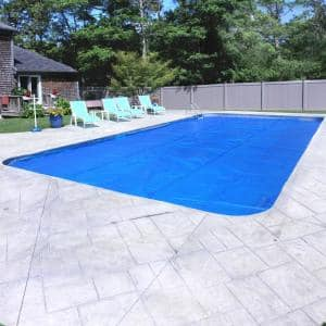 Heavy-Duty Space Age Diamond 5-Year 18 ft. x 36 ft. Rectangular Blue/Silver Solar Pool Cover
