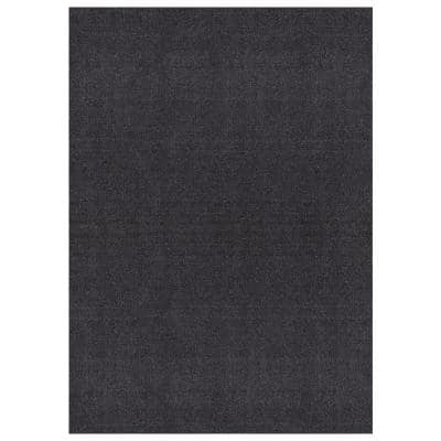 Grey Grass 6 ft. 7 in. x 9 ft. 3 in. Gray Artificial Grass Area Rug