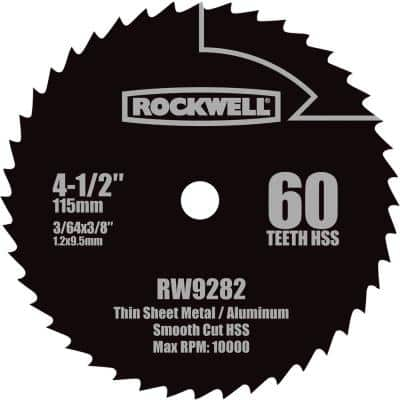 4-1/2 in. HSS Compact Circular Saw Blade