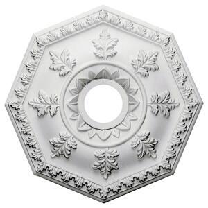 18'' x 3-1/2'' ID x 1-1/2'' Nottingham Urethane Ceiling Medallion (Fits Canopies upto 4-5/8''), Primed White