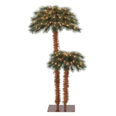 3 ft. PreLit Artificial Tropical Christmas Palm Tree