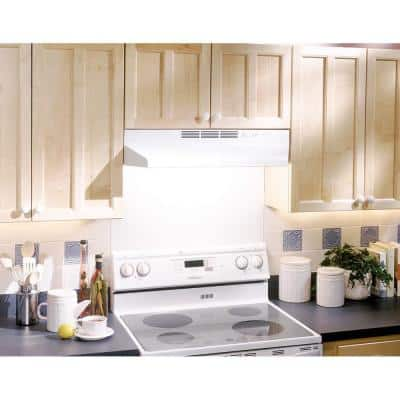 41000 Series 30 in. Ductless Under Cabinet Range Hood with Light in Black