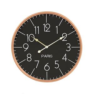 Paris Round Bronze Framed Contemporary Metal Clock