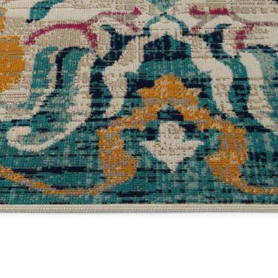 Zuma Beach Collection Multi 9 ft. 3 in. x 12 ft. Rectangle Indoor/Outdoor Area Rug