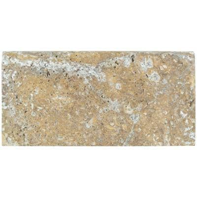 Tuscany Scabas 12 in. x 24 in. Gold Travertine Pool Coping (15 Pieces / 30 Sq. Ft. / Pallet)