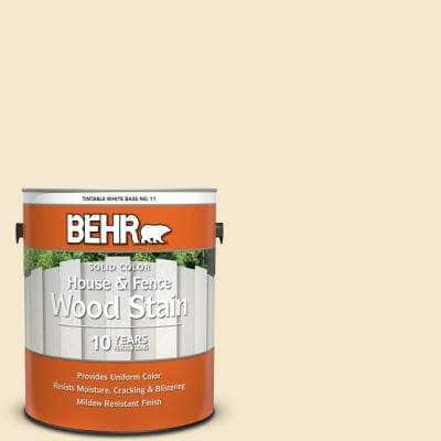 1 Gal. White Base Solid Color House and Fence Exterior Wood Stain