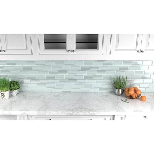 Reviews For Bodesi Vesper Glass Tile For Kitchen Backsplash And Showers 3 In X 6 In Tile Sample Hpt Vp S The Home Depot