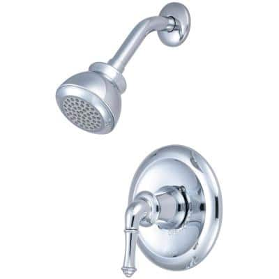 Del Mar 1-Handle Wall Mount Shower Faucet Trim Kit in Polished Chrome (Valve not Included)