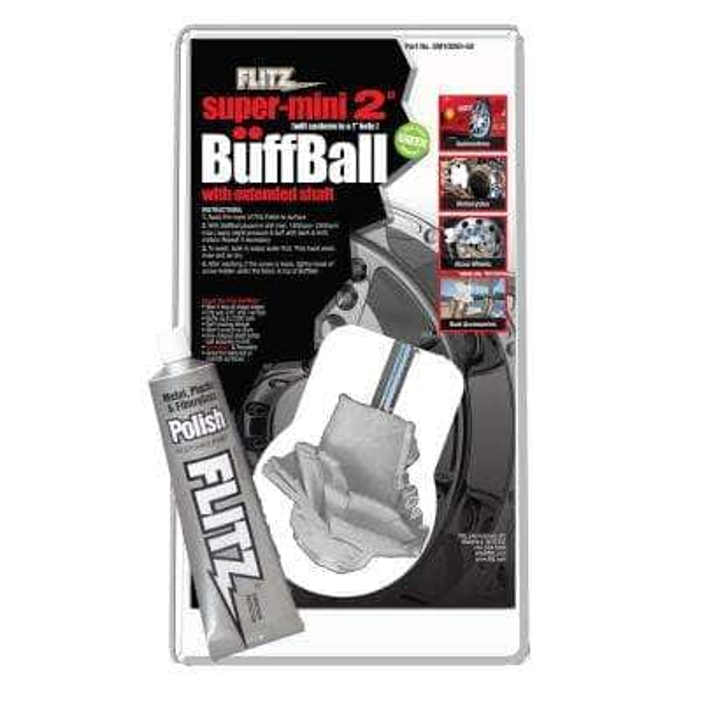 2 in. Yellow Original Super Mini Buff-Balls in Clamshell