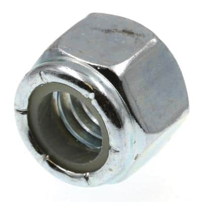 Prime Line 3 8 In 16 Grade 2 Zinc Plated Steel Nylon Insert Lock Nuts 100 Pack 9075370 The Home Depot
